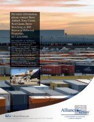 Logistics Hub Brochure - AllianceTexas