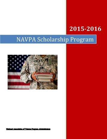 2015-2016 NAVPA Scholarship Program