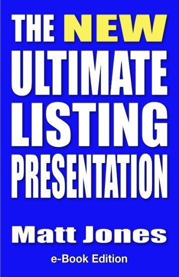 The NEW Ultimate Listing Presentation
