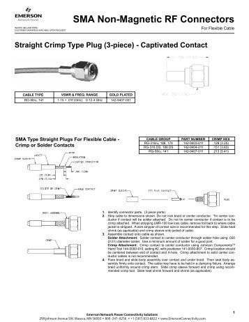 sma connector assembly instructions