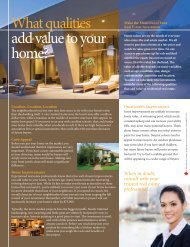 What qualities add value to your home?