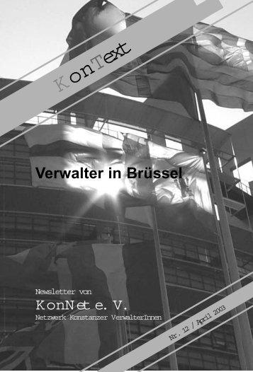 Ausgabe Nr. 12 / April 2003, Thema: Verwalter in - KonNet
