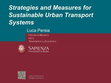 Strategies and Measures for Sustainable Urban Transport Systems