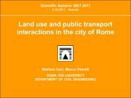 Land use and public transport interactions in the city of Rome