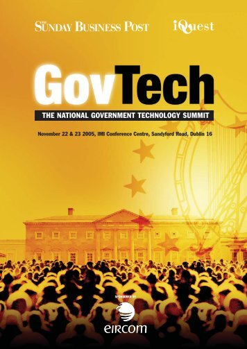 THE NATIONAL GOVERNMENT TECHNOLOGY SUMMIT