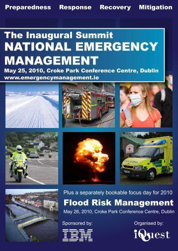 NATIONAL EMERGENCY MANAGEMENT