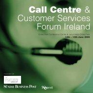 Call Centre & Customer Services Forum Ireland