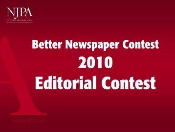 2010 Editorial Contest