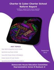Charter & Cyber Charter School Reform Report