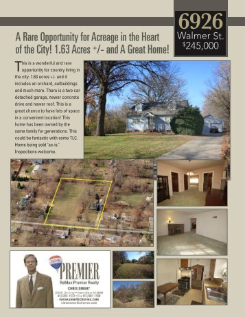 A Rare Opportunity for Acreage in the Heart of the City! 1.63 Acres + ...