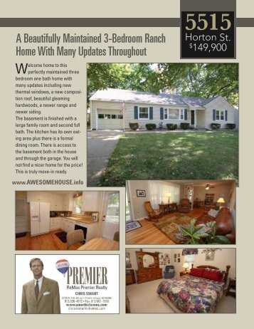 A Beautifully Maintained 3-Bedroom Ranch Home With Many ...