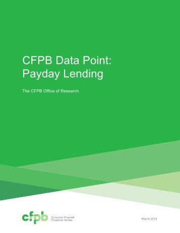 CFPB Data Point Payday Lending