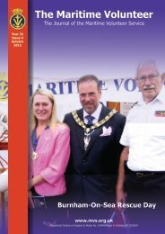 The Maritime Volunteer Year 21 Issue 4 Autumn 2015