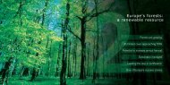 Europe's forests a renewable resource