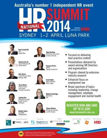 Australia's number 1 independent HR event