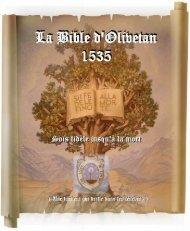 La Bible d'Olivetan 1535