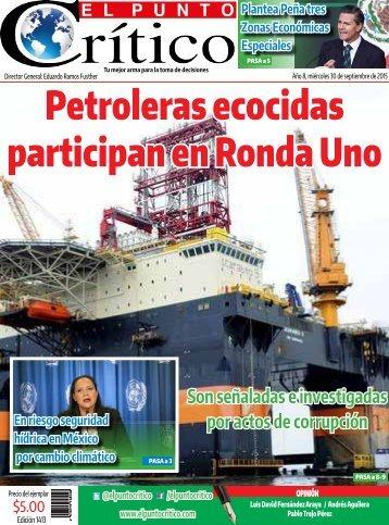 Petroleras ecocidas participan en Ronda Uno