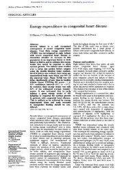 Energy expenditure in congenital heart disease - Archives of ...