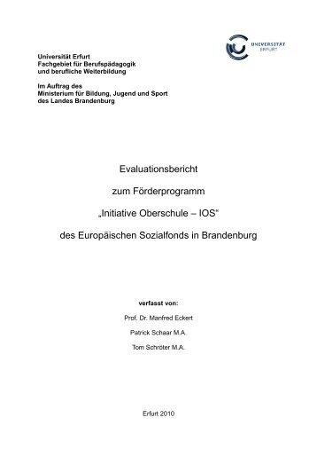 Evaluation IOS 2010 Bericht - Ministerium für Bildung, Jugend und ...