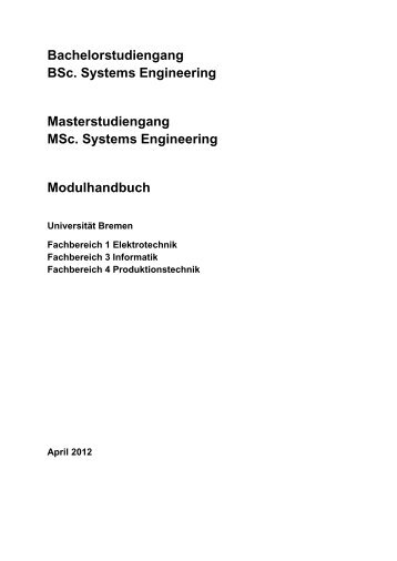 Bachelorstudiengang BSc. Systems Engineering ...