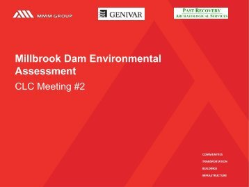 Millbrook Dam Environmental Assessment