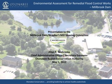 Environmental Assessment for Remedial Flood Control Works – Millbrook Dam