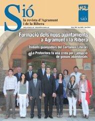 Formació dels nous ajuntaments a Agramunt i la Ribera