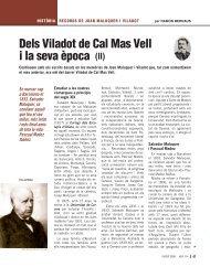 Dels Viladot de Cal Mas Vell i la seva època