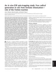Free radical generation in rats from formate intoxication