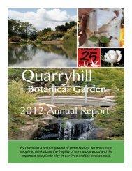 Annual Report 2012 - Quarryhill Botanical Garden