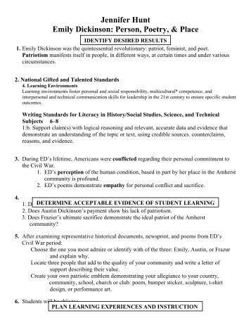 emily dickinsons persona essay 1 why is a good general knowledge of emily dickinson's life useful for interpreting her poems 2 how can knowledge of emily dickinson's life be misused in interpreting her poems.