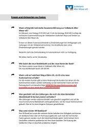 Volksbank Aller-Weser eG Fragen und Antworten zur Fusion ...