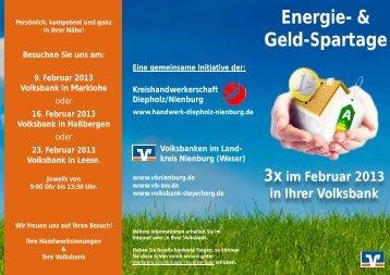 Energie- & Geld-Spartage