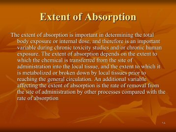 Extent of Absorption