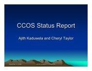 CCOS Status Report