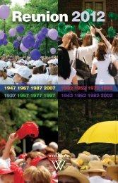 Reunion 2012 Program - Wellesley College
