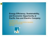 and Economic Opportunity at Pacific Gas and Electric Company