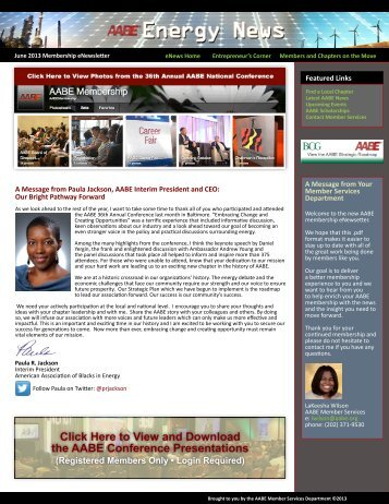 Click Here to View and Download the AABE Conference Presentations