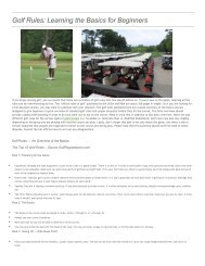 Golf Rules Learning the Basics for Beginners