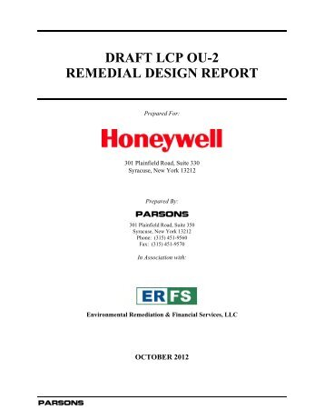 Draft LCP OU-2 Remedial Design Report - New York State ...