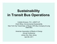 Sustainability in Transit Bus Operations