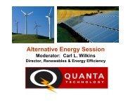 Alternative Energy Session