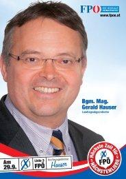 Bgm Mag Gerald Hauser