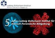 Einladung - Ludwig Boltzmann Institut für Klinisch-Forensische ...