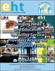 Bringing News and Education to Facility Service Providers ... - IEHA
