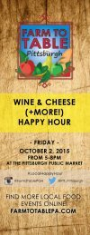 WINE & CHEESE (+MORE!) HAPPY HOUR
