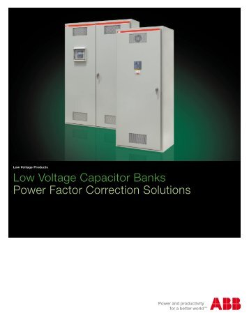 Low Voltage Capacitor Banks Power Factor Correction Solutions