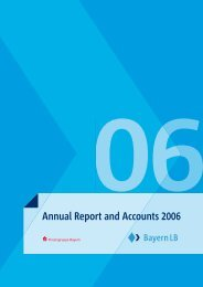 Annual Report and Accounts 2006 - Bayerische Landesbank