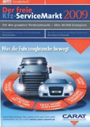 Der freie Kfz-ServiceMarkt 2009 - Coler Bosch - BROEKER • MEDIA ...