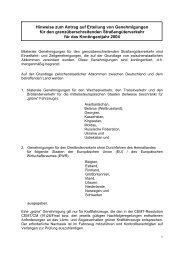 Hinweise zum Antrag auf Erteilung von Genehmigungen für den ...